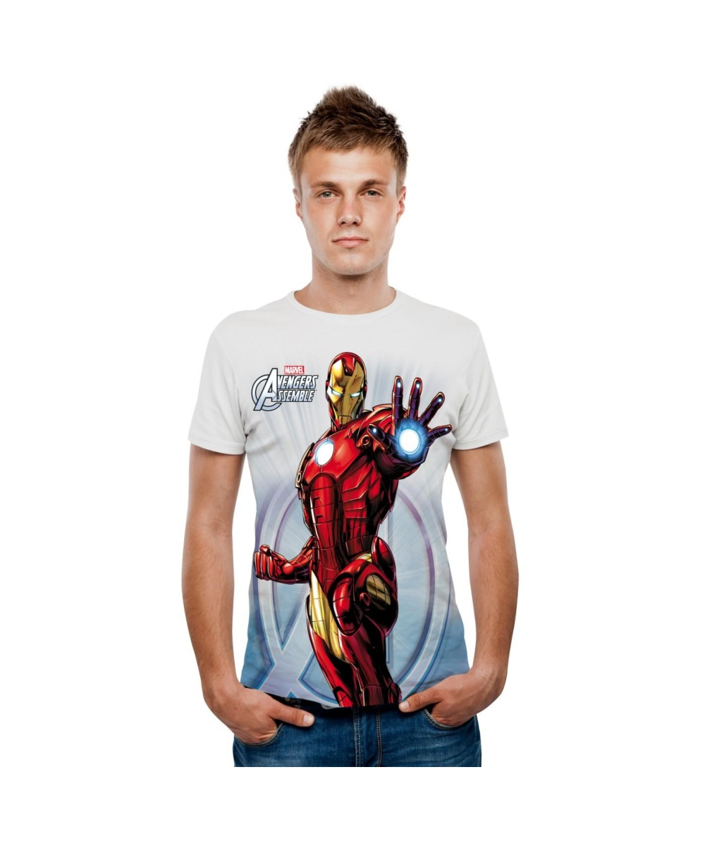 Marvel iron man digital mens t new arrivals for Iron man shirt for men