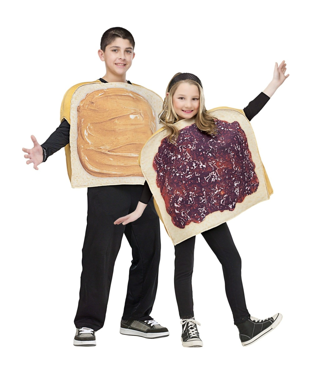 Kids Peanut Butter Jelly Costume