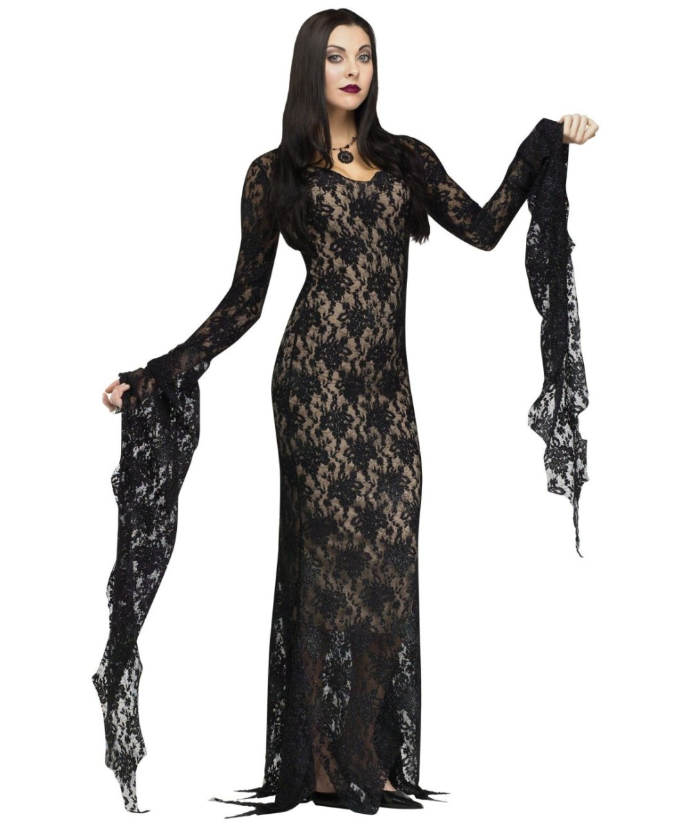 lace morticia womens costume women costume. Black Bedroom Furniture Sets. Home Design Ideas
