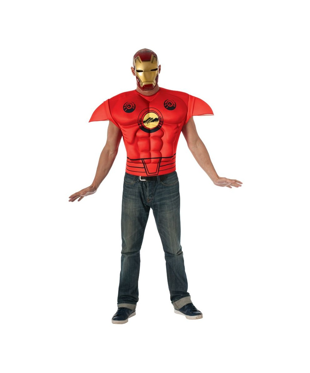 Iron man muscle shirt for men for Iron man shirt for men