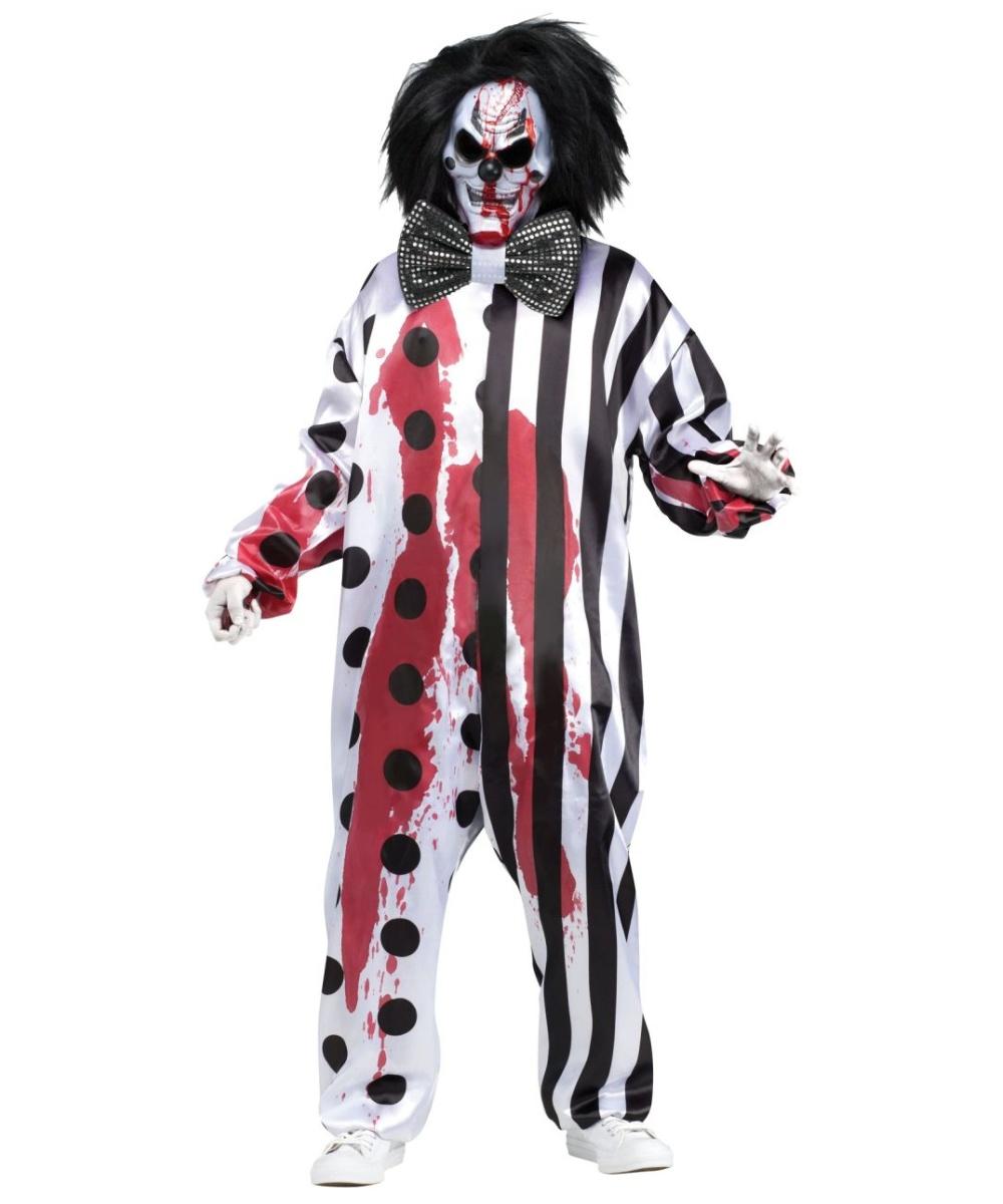 Jester Costumes - Evil, Twisted Joker Jester Halloween Costume for ...