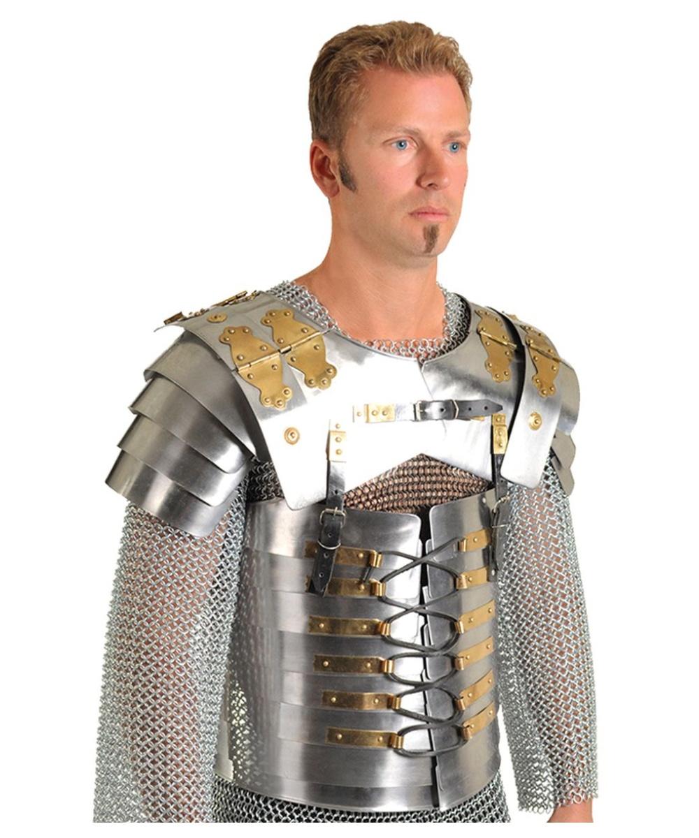 Roman Soldier Lorica Segmentata Body Armor Men Costume