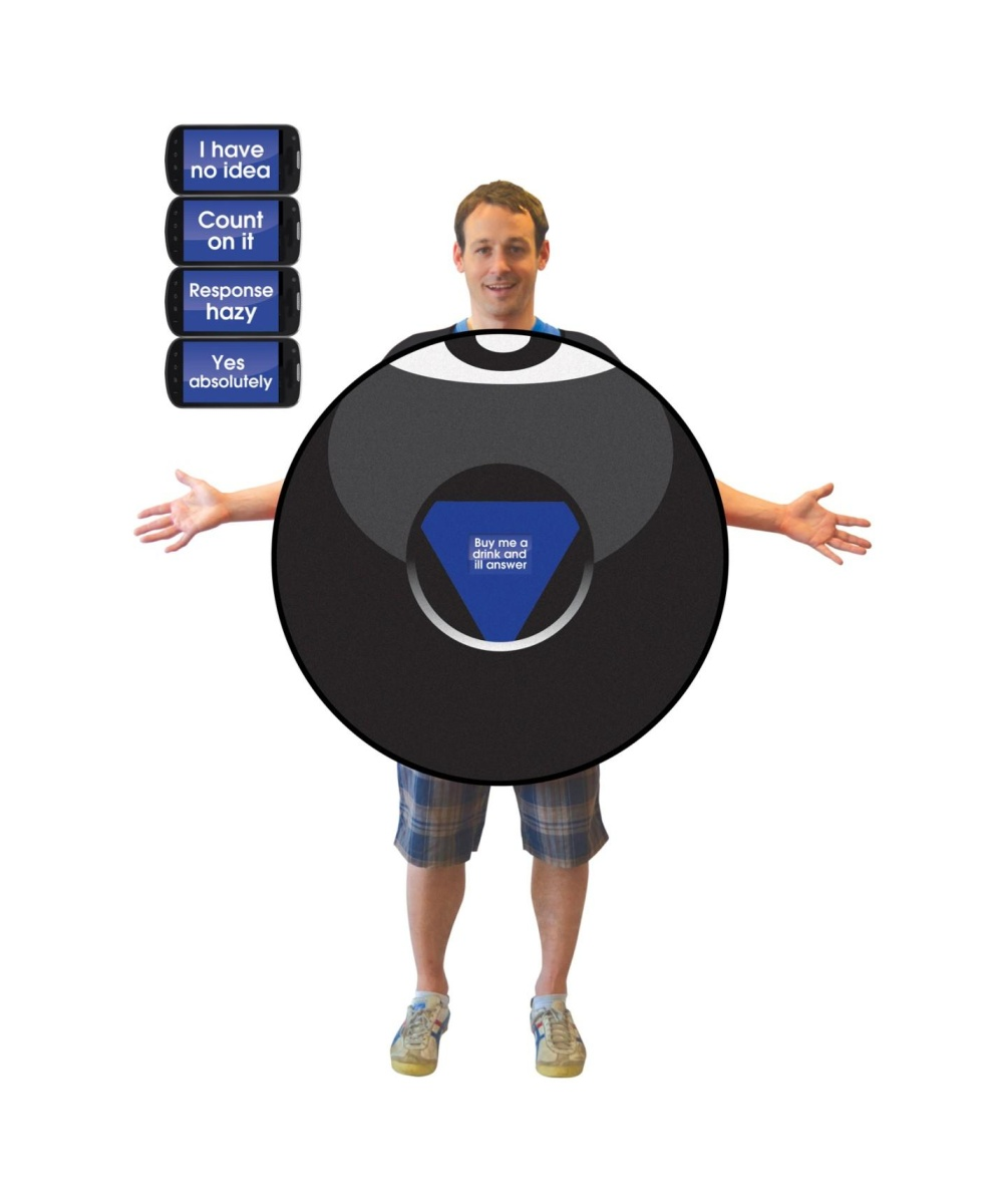 magic 8 ball mens costume funny costumes - Magic 8 Ball Halloween Costume