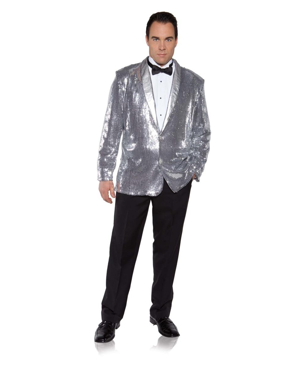 Silver Sequin Mens Jacket