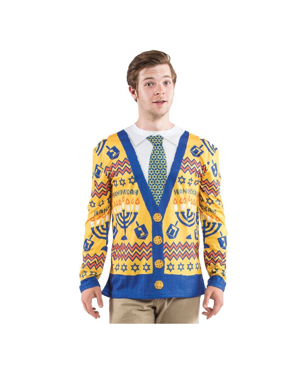 Ugly Hanukkah Sweater Mens Costume Shirt Men Costume