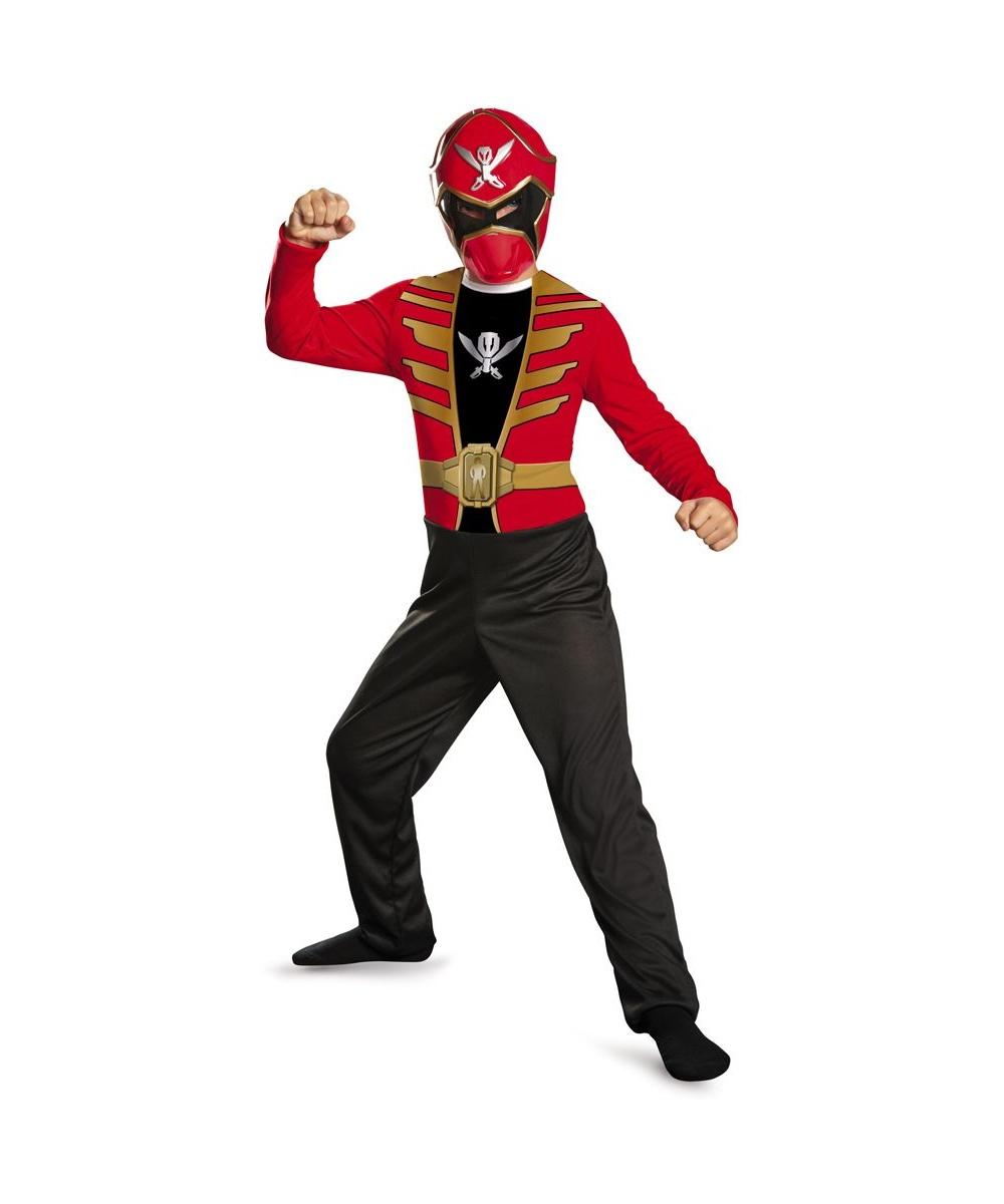 red power ranger super megaforce economy boys costume. Black Bedroom Furniture Sets. Home Design Ideas