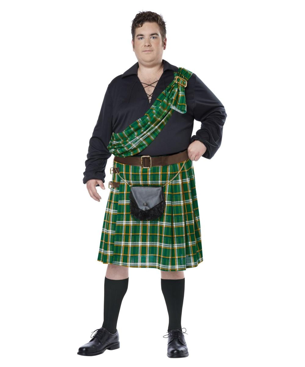 Scottish Highlander Kiltsman Plus Size Mens Costume