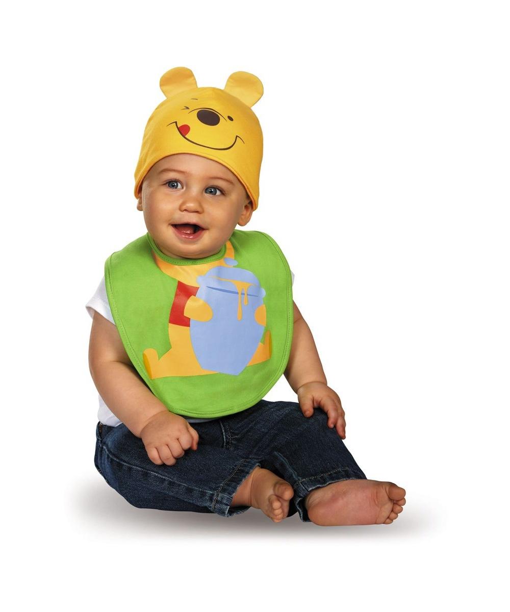 Winnie Pooh Bib Hat Baby Costume