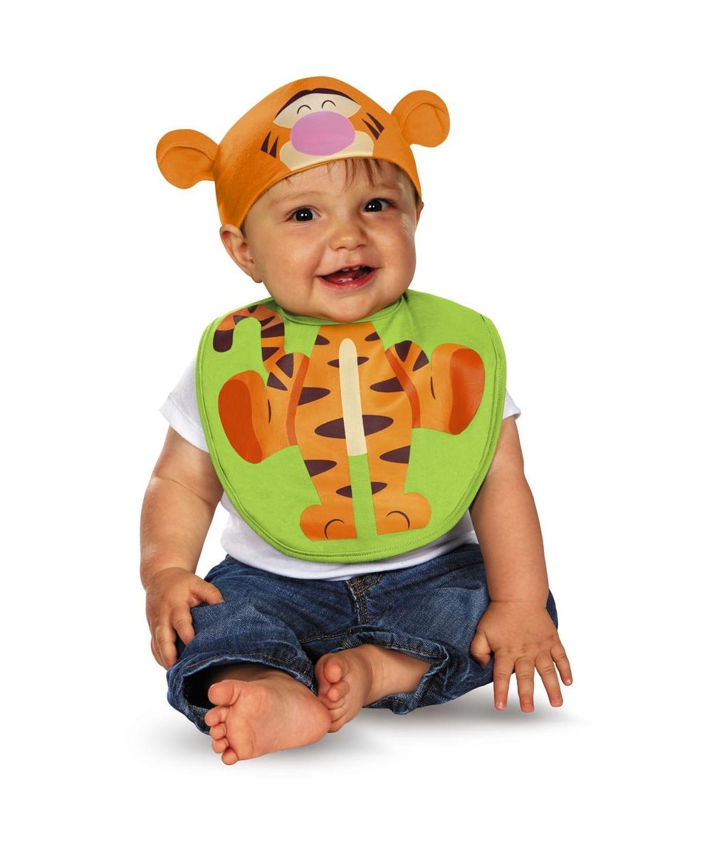 winnie the pooh tigger bib and hat baby costume. Black Bedroom Furniture Sets. Home Design Ideas