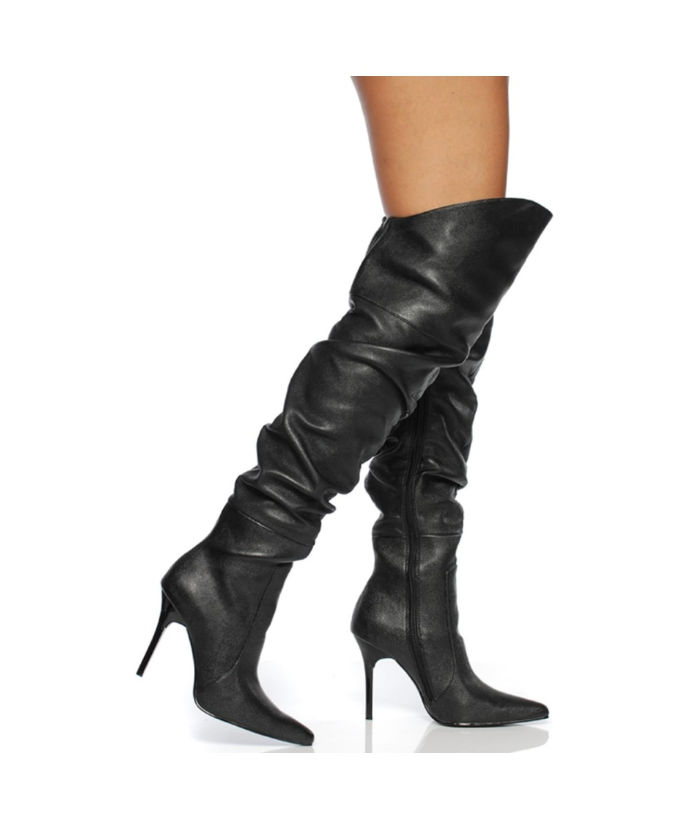 black knee high womens boots shoes