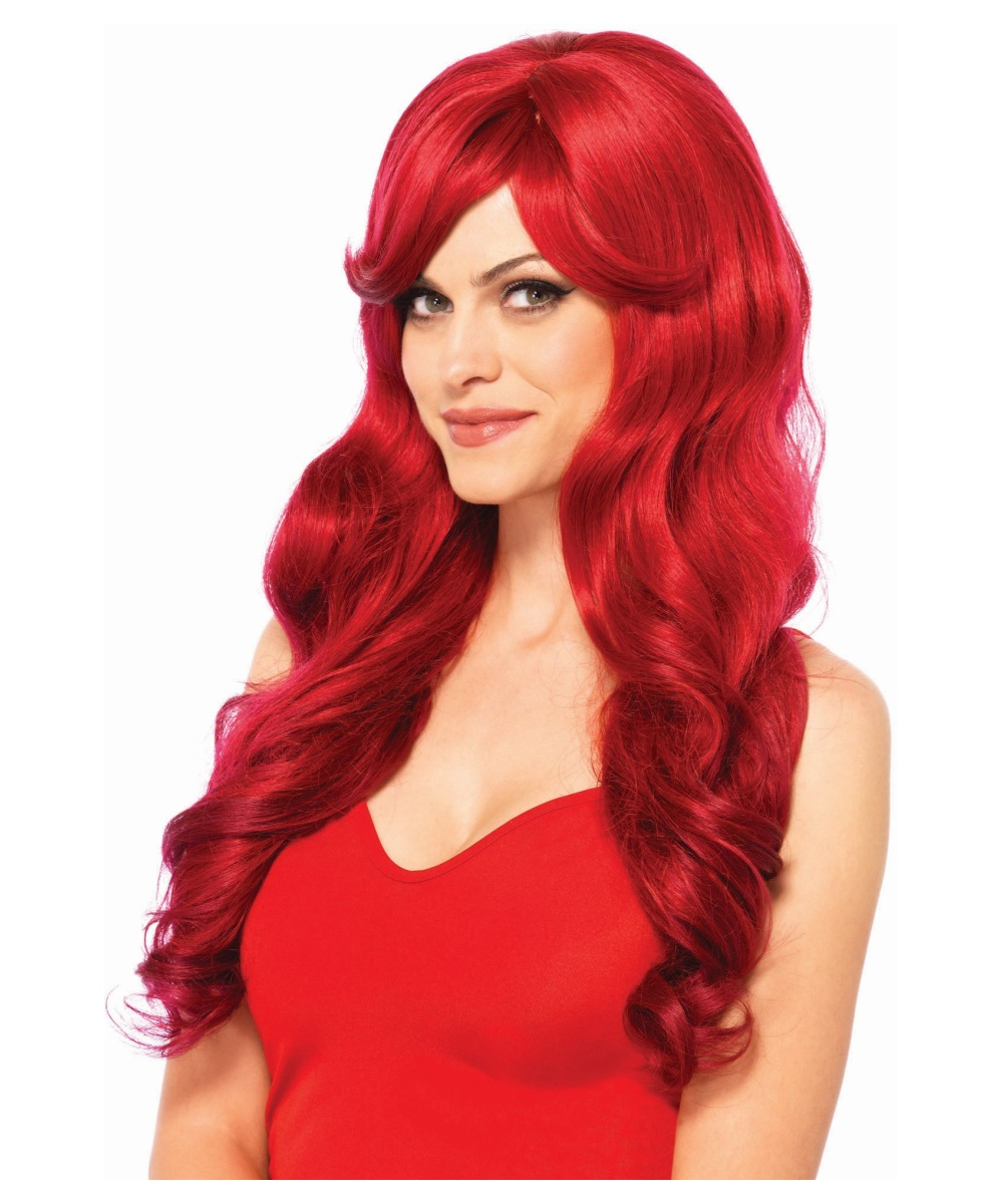 Womens Red Wig Colorful Cheap Wigs