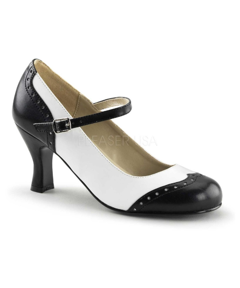 Womens Spectator Shoes Black And White