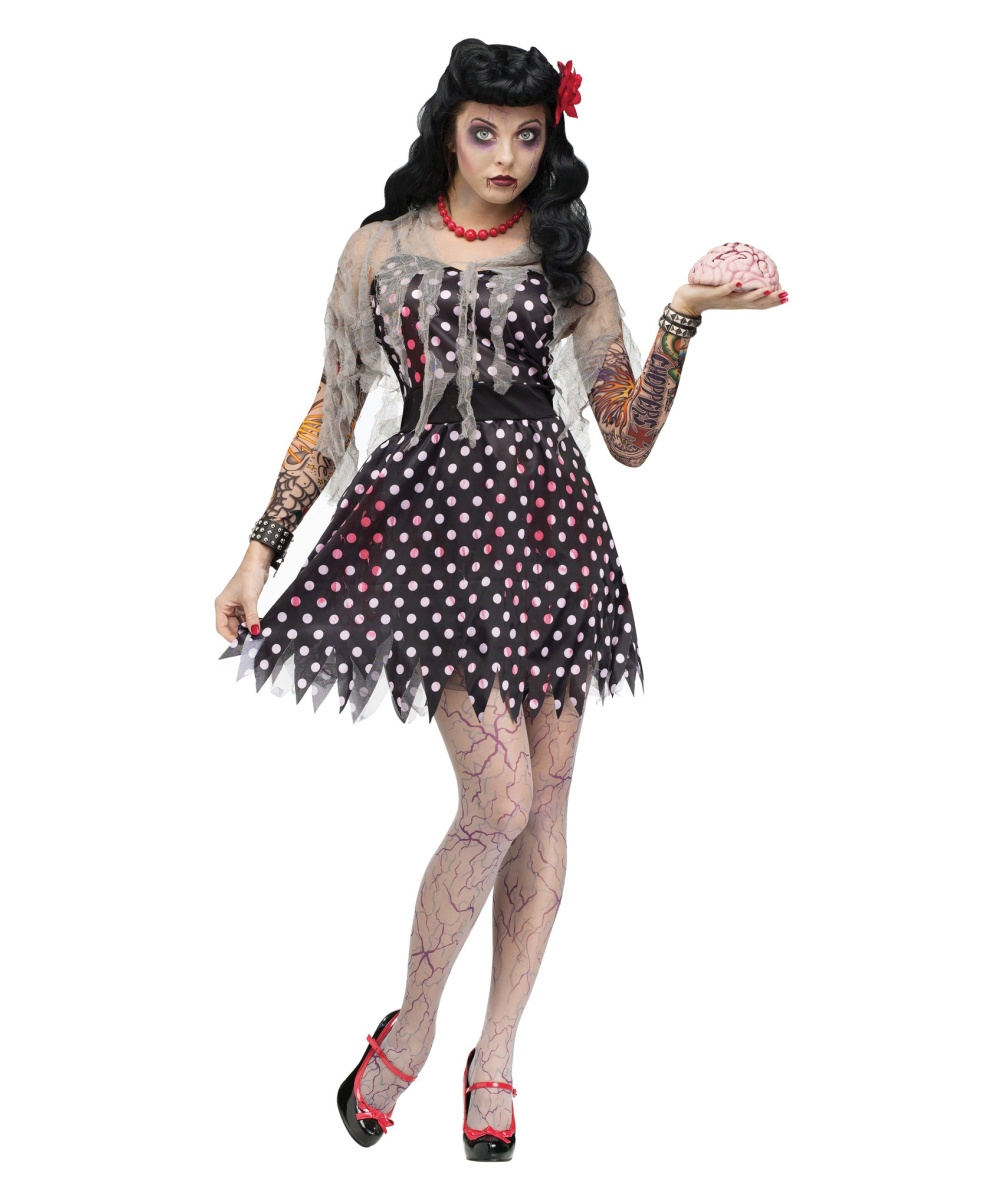 Rockabilly Zombie Womens Costume Women Costume