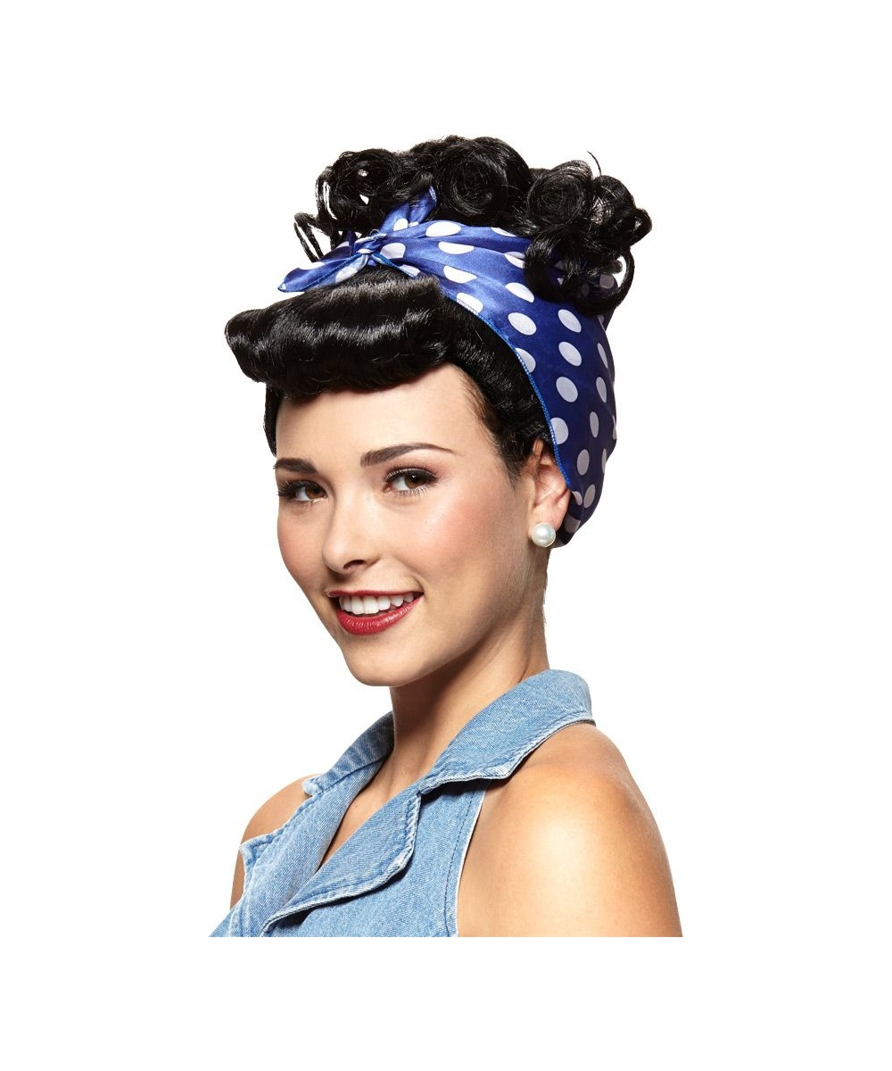 rosie the riveter womens wig. Black Bedroom Furniture Sets. Home Design Ideas
