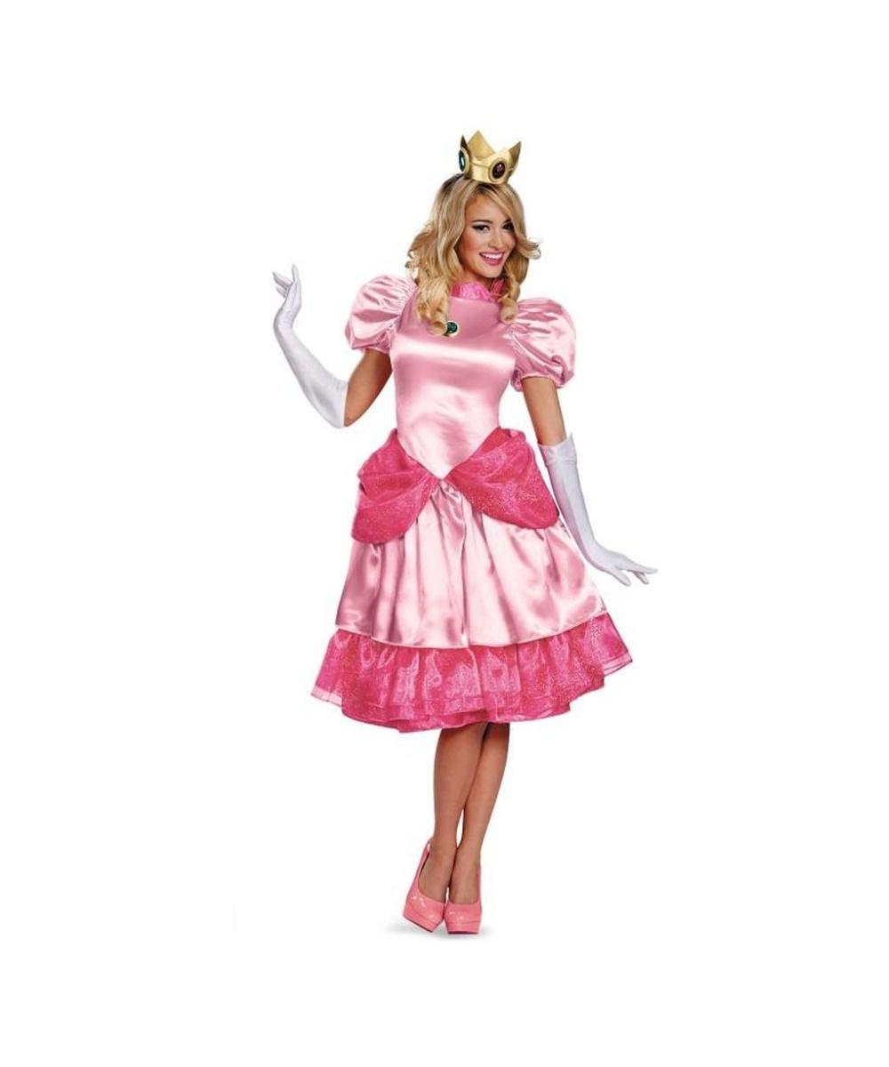 Super Mario Bros Princess Peach Womens Costume - Cosplay ...