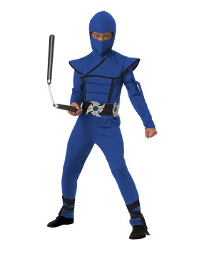 Boys Blue Stealth Ninja Costume