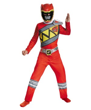 Boys Dino Charge Red Ranger Costume