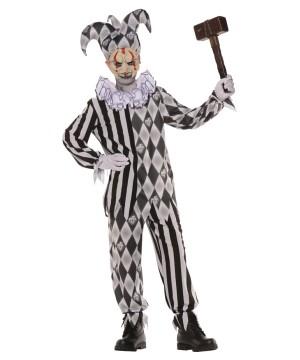 Boys Evil Harlequin Costume