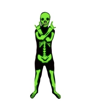 Boys Glow Skeleton Morpshuit Costume