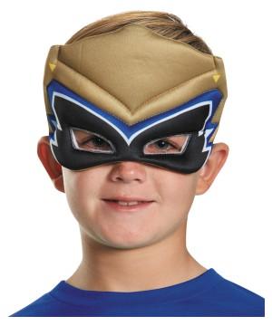 Boys Gold Dino Puffy Mask