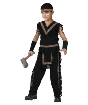Boys Midnight Tribal Warrior Costume