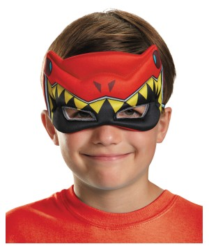 Boys Red Power Ranger Puffy Mask