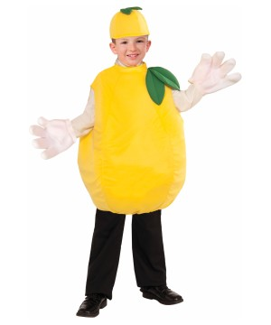 Boys Tangy Lemon Fruit Costume