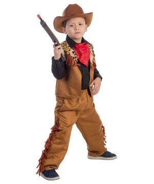Boys Wild Western Cow Costume