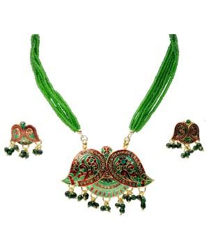Brass Ethnic Necklace Set