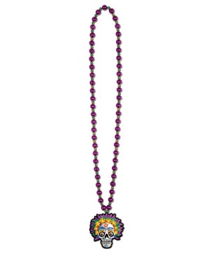 Day Dead Skull Medallion Necklace