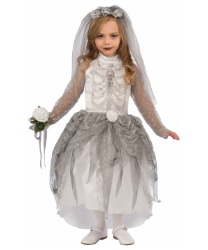 Girls Bride Skeleton Costume