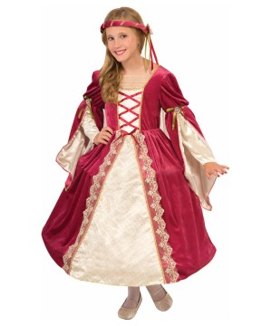 Girls British Miss Princess Costume