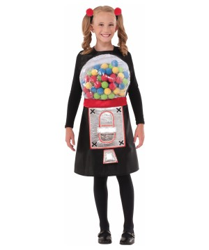 Girls Bubbly Gumball Machine Costume