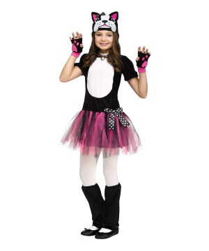 Girls Bulldog Ballerina Costume
