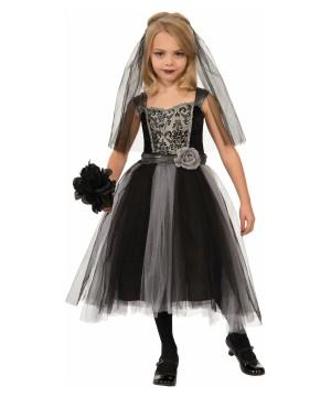 Girls Dark Bride Gothic Costume