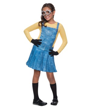 Girls Despicable Me Minion Costume