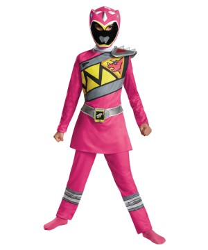 Girls Dino Pink Ranger Costume