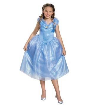 Girls Disney Cinderella Dress Costume