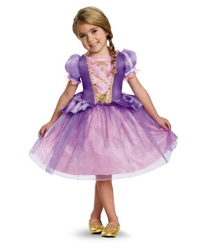 Girls Disney Rapunzel Dress Costume