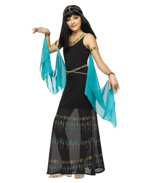 Girls Egyptian Hieroglyph Queen Costume
