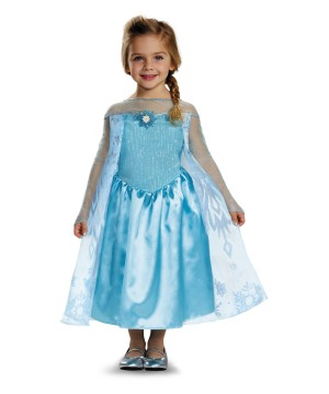 Girls Frozen Elsa Disney Costume