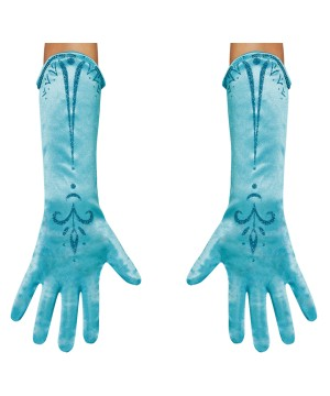 Girls Frozen Elsa Disney Gloves