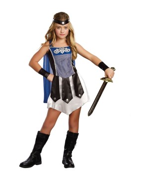 Girls Gladiator Warrior Costume