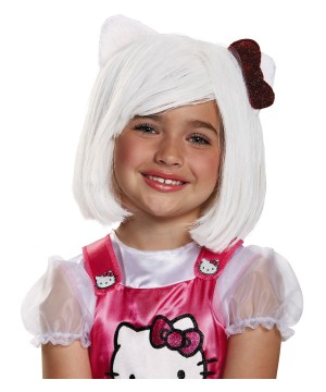 Girls Hello Kitty Wig