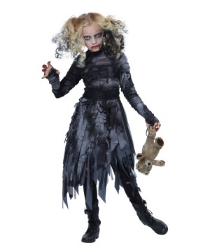 Girls Horrifying Zombie Costume