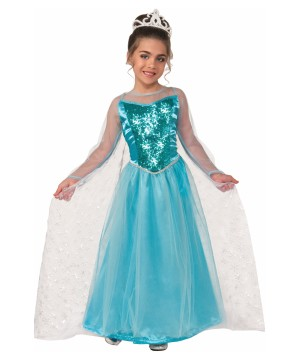 Girls Ice Crystal Princess Costume