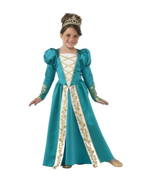 Girls Jade Princess Renaissance Costume