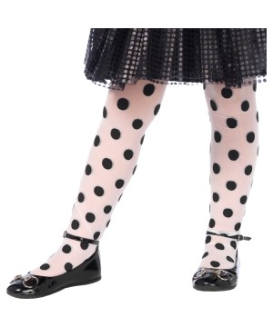 Girls Polka Dot Tights