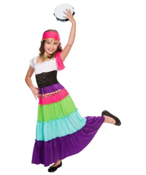 Girls Renaissance Gypsy Costume
