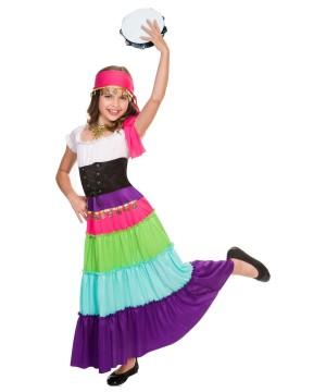 Girls Renaissance Gypsy Costume